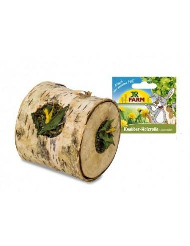 Drewniany wałek do chrupania z mleczem 100g, JR Farm