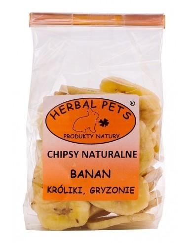 Chipsy naturalne Banan 75g, Herbal Pets